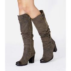 Ruched Faux Leather Boots from #YesStyle <3 yeswalker YesStyle.com