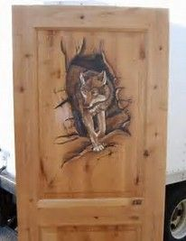 Image result for wolf design doors.