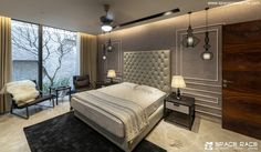 World Architecture Community News - The Waterfall House by Space Race Architects, Jalandhar, India Indian Architecture, Amazing Architecture, Contemporary Architecture, Waterfall House, Beautiful House Plans, Space Race, Modern House Design, Luxury Living, Architects