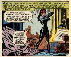"""Thank John Romita (Sr.) for the look the Black Widow modeled since the 70s (since """"Amazing Spider-Man""""#86),carried on to Scarlett Johansson's interpretation and apparently to SHIELD agents in the series. According to Romita, the look was based not on Emma Peel of the (UK teleseries) Avengers, but the legendary Tarpe Mills character Miss Fury."""