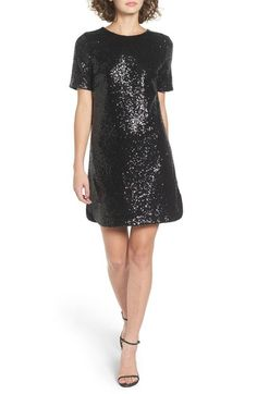 Soprano Sequin T-Shirt Dress available at #Nordstrom
