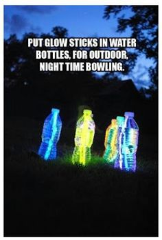 Funny pictures about Night time bowling. Oh, and cool pics about Night time bowling. Also, Night time bowling. Glow Sticks, Camping With Kids, Outdoor Fun, Outdoor Bowling, Outdoor Ideas, Outdoor Lighting, Pathway Lighting, Outdoor Games For Teenagers, Outdoor Wedding Games