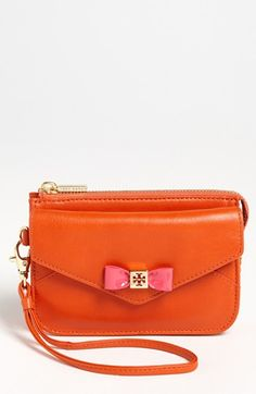 Tory Burch Bow Smartphone Wristlet available at #Nordstrom MUST Have this