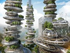 """""""Farmscrapers"""" could turn future cities green: A France and Belgium-based architecture firm is adding farms to urban skyscrapers to help China's polluted cities urban skyscrapers to help China's polluted cities"""