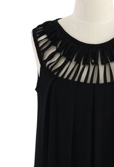 Cage Cut Out Neckline - Use the over-sized black T you picked up.
