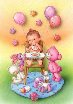 Иллюстрации художницы Lorella Flamini - Художественная галерея Baby Images, Baby Pictures, Cute Pictures, Kids Cards, Baby Cards, Decoupage, Baby Illustration, Baby Painting, Cute Clipart