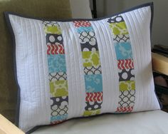 quilted pillow by Whittle Stitch