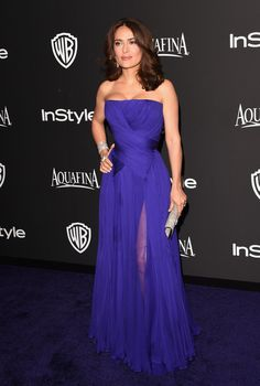 Salma Hayek Pinault attends the 2015 InStyle And Warner Bros. 72nd Annual Golden Globe Awards Post-Party at The Beverly Hilton Hotel on January 11, 2015 in Beverly Hills, California.
