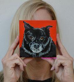 Custom dog painting custom dog portrait by PopArtPetPortraits, $75.00
