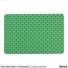 Shop Green Net, Mesh, or Chainmail Like Pattern Floor Mat created by AponxDesigns. Green Gifts, Floor Mats, Personalized Gifts, Create Your Own, Mesh, Flooring, Rugs, Pattern, Design