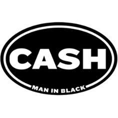 Johnny Cash Man In Black Sticker