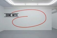 Lawrence Weiner at Micheline Szwajcer (Contemporary Art Daily)