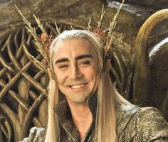 Lee Pace behind the scenes. His smile is perfection.