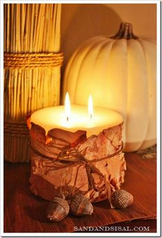 Birch Bark Candle · Candle Making | CraftGossip.com