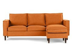 YORK - Interchangeable sectional sofa - Orange