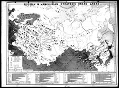 Major targets for nuclear bombs in Soviet Union and Manchuria, part of planning a nuclear attack on the USSR in september 1945.[3972X2941]