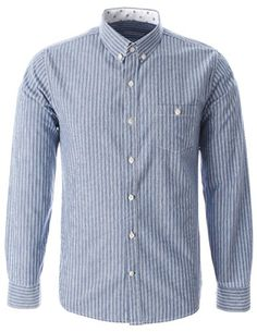 FLATSEVEN Mens Slim Fit Patch Pocket with Button Striped Cotton Casual Shirt (SH493) Blue, L FLATSEVEN http://www.amazon.com/dp/B00KNPS8VK/ref=cm_sw_r_pi_dp_thnlub10NTZ5S