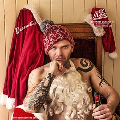 His sack is full and he's ready to bring joy to anyone interested in his brand of festive fun. He's a bad, bad boy, with a jolly hat to keep him warm while he adds to his naughty list. Knitting for men….a calendar. Genius idea!