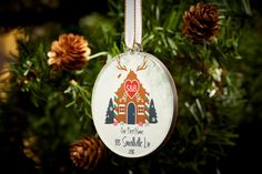 Couples christmas ornaments personalized by TpcDesignStudio