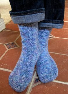Snowbound Socks-done with worsted weight and very easy.  I love these.