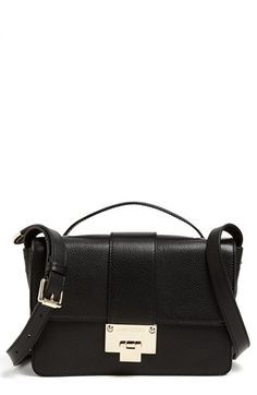 $1,195, Rebel Leather Crossbody Bag Black by Jimmy Choo. Sold by Nordstrom. Click for more info: http://lookastic.com/women/shop_items/62384/redirect