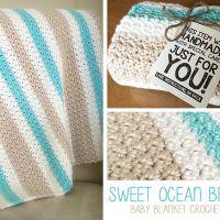 Sweet Ocean Breeze Baby Blanket
