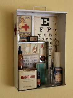 The Nurses Station Found Object Assemblage