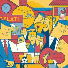 Gustolato ice cream by Ale Giorgini, via Behance character illustrations by Ale Giorgini, a Vicenza, Italy based artist and illustrator.
