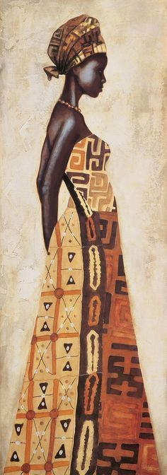 African woman. I love this series of three paintings.
