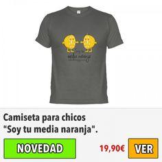 "Camiseta para chicos ""Soy tu media naranja"". #ofertas #descuentos"