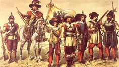 Imperial musketeers and soldiers from the period of the 30 Years War.