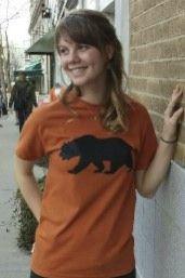 Women's T-shirt orange - Short sleeve - spring style fashion @ Black Bear Trading Asheville N.C.
