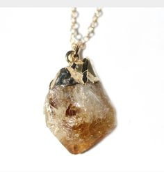 Citrine Necklace by The Urban Smith