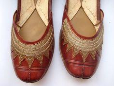 Women Leather Shoes Designer Shoes Bridal Shoes khussa shoes punjabi jutti USA-9