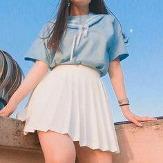 Check out this Stylish korean fashion outfits 5187761601 Hipster Outfits, Korean Outfits, Cute Casual Outfits, Pretty Outfits, Girl Outfits, Fashion Outfits, Korean Ootd, Fashion Ideas, Kawaii Fashion