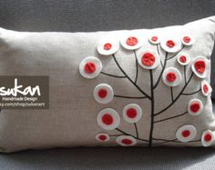 Sukan / Tree Pillow Pillow Cover Cushion Cover Linen Pillow Cover Home Decor Throw Pillow Decorative Pillow Throw Pillow Covers