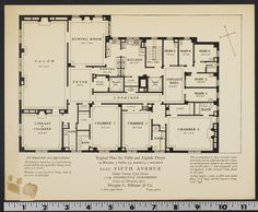 Typical floorplan for 1020 Fifth Avenue, New York