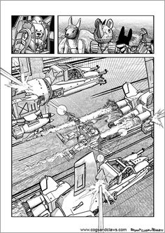 Cs&Cs wordless webcomic page 2000ad, Rocket Raccoon, Cogs, Tmnt, Gundam, Starwars, Transformers, Comic Books, Star Wars