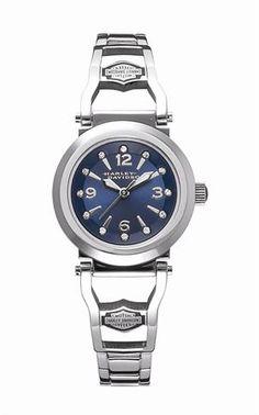 Harley-Davidson® Women s Swarovski Crystal Marked Watch by Bulova 76L146 Harley  Davidson Watches 91190ee5628