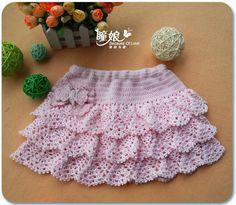 Crochet Skirt for Girls - from make handmade