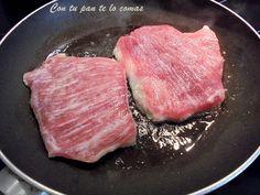Receta de secreto de cerdo con una salsa deliciosa, paso a paso