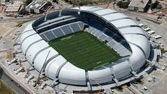 As much about architecture as football tonight - Stunning Arena Das Dunas with 20 giant #aluminium petals