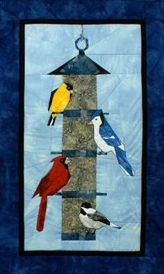 Cardinal Pattern for Quilting | For the Birds Wall Quilt Pattern by England Design Studios
