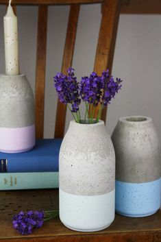 See more ideas about Concrete crafts, Concrete projects and Cement crafts. Diy Candle Holders, Diy Candles, Diys, Art Diy, Concrete Crafts, Decoration Originale, Creation Deco, Diy Beauty, Beauty Tips