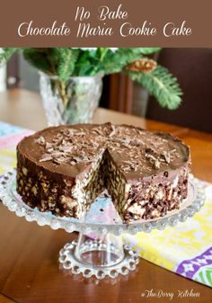 This No Bake Chocolate Maria Cookie Cake is a beautiful easy to make European dessert that is good for the entire family. It looks great as a cake for a fancier occasion but equally delicious if shaped as a salami log the traditional way of making it. Chocolate Biscuit Cake, Chocolate Cookies, Chocolate Desserts, Almond Cream, Cupcakes, Homemade Chocolate, Savoury Cake, Mini Cakes, Clean Eating Snacks