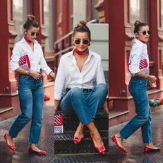 D flats outfit. Reet style summer - Me gusta. Cute Preppy Outfits, Preppy Style, Classy Outfits, New Outfits, Stylish Outfits, Fashion Outfits, Office Outfits, Business Outfits, Work Outfits