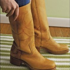 Vintage Cowboy Style Frye Boots