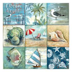 Ocean Front - Nine Square Reproduction giclée Premium par Gregory Gorham sur AllPosters.fr