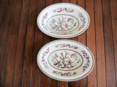 Johnson Brothers Indian Tree Oval Vegetable Bowls, Set of Two by NonisVintageDelights on Etsy, $29.95