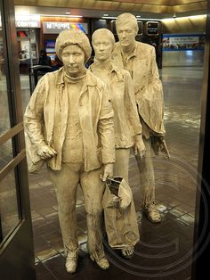 THE COMMUTERS Sculptural Group by George Segal, Port Authority Bus Terminal, New York City by jag9889, via Flickr